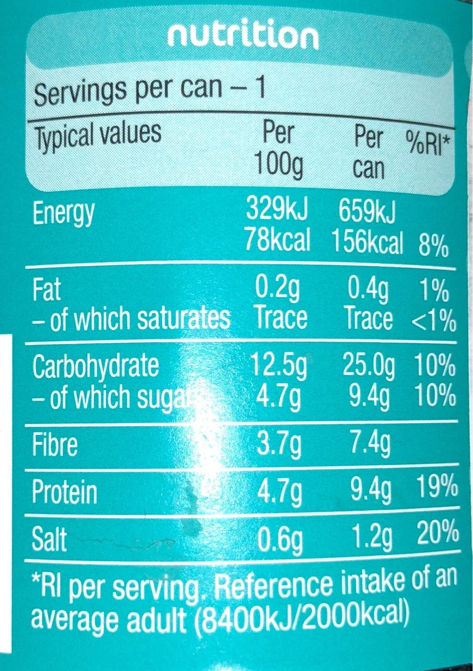 Heinz Beanz - Nutrition facts