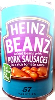 Beanz Baked Beans with Pork Sausages - Product - en