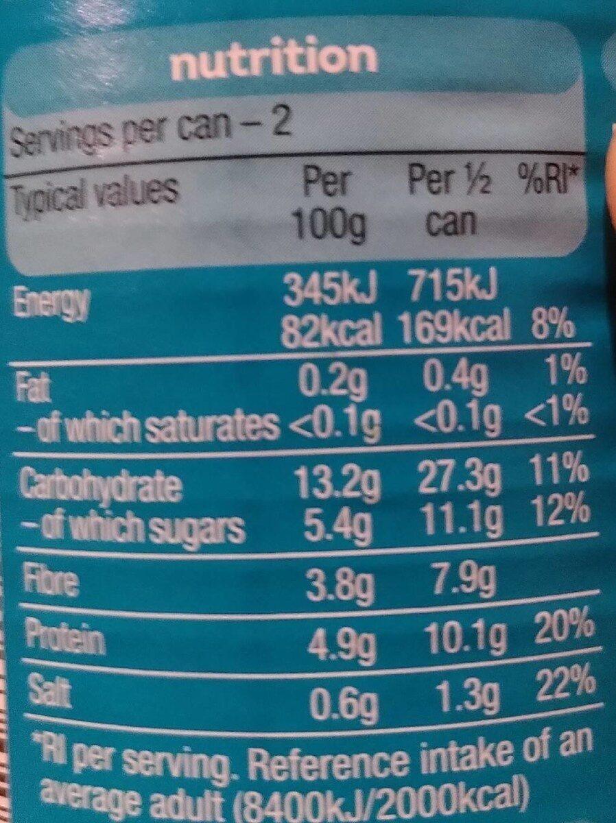 Beanz - Nutrition facts - en