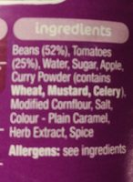Heinz Baked Beans Curry - Ingredients