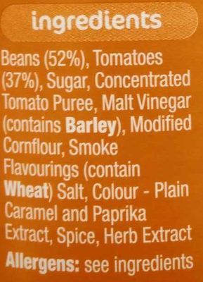 Beanz Barbecue - Ingredients