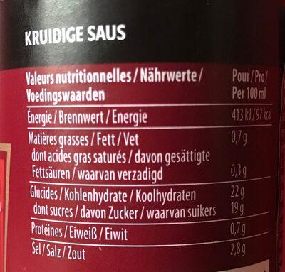 Heinz Worcestershire Sauce 150 ml - Nährwertangaben - fr