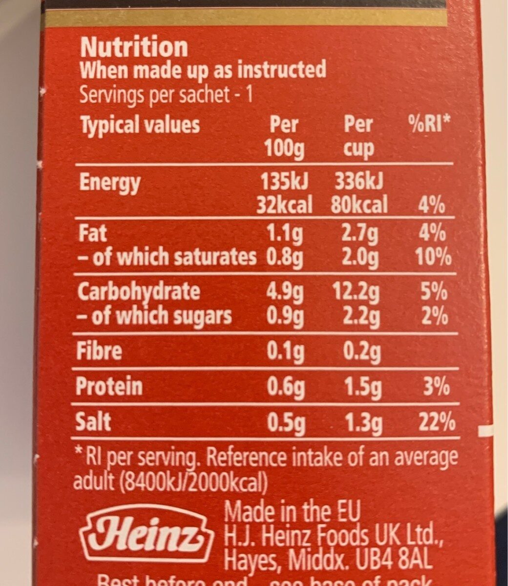 Chicken soup - Nutrition facts