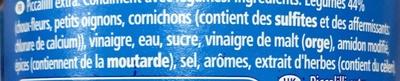 Piccalilli Extra - Ingrédients - fr