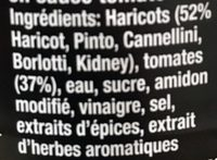 Five Beanz - Ingredienti - fr