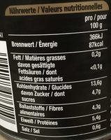 Five Beanz - Valori nutrizionali - fr