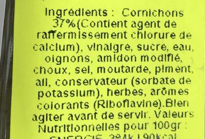 57 Gherlish Relish - Ingrédients