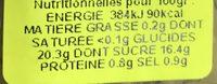 57 Gherlish Relish - Informations nutritionnelles