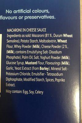 Kraft Macaroni Cheese Stove Top 206G - Ingrediënten