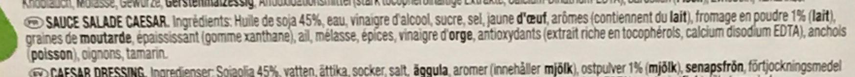 Salad Dressing Caesar - Ingrédients