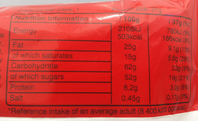 dentalTape - Nutrition facts