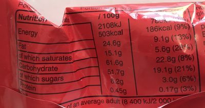 Maltesers - Informations nutritionnelles - fr