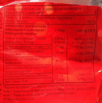 Maltesers 175g - حقائق غذائية - fr