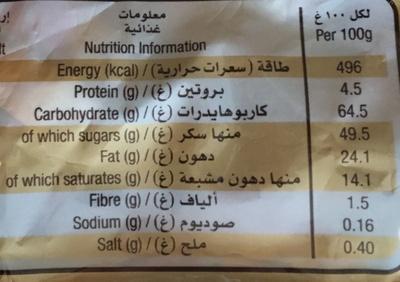 Twix Miniatures - Información nutricional - fr
