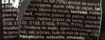 M&m's chocolat - Ingrediënten - fr