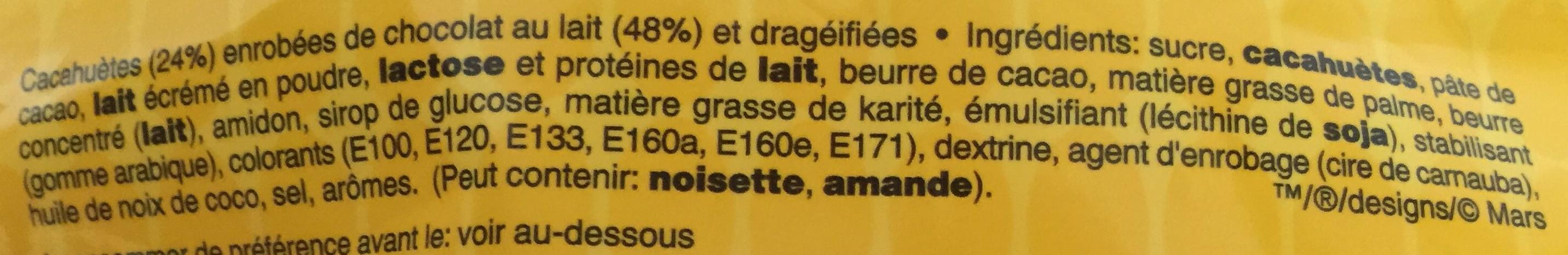 m&m's Peanut - Ingrediënten - fr