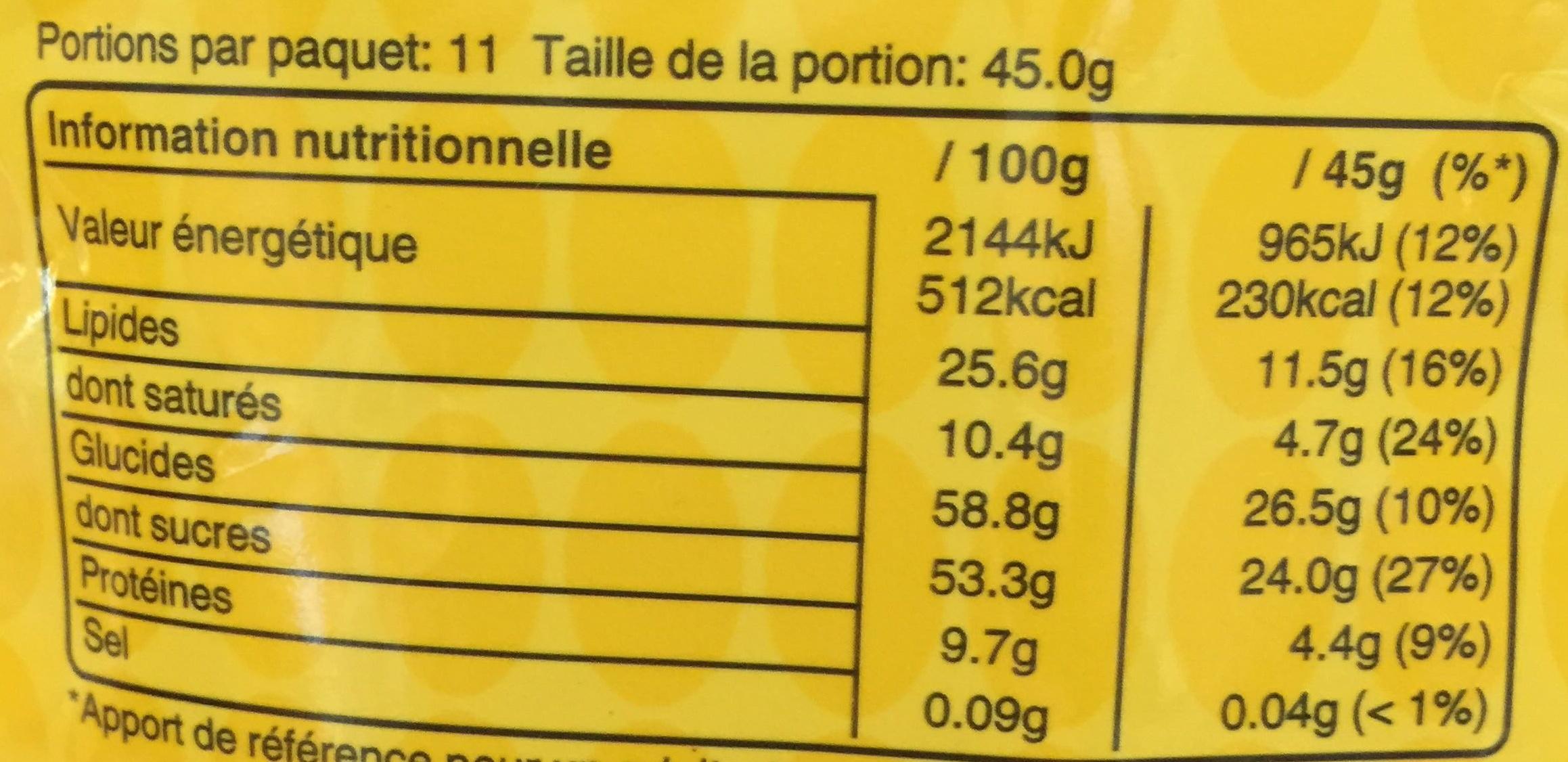 m&m's Peanut - Voedingswaarden - fr