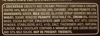Snickers ice cream - Ingredients
