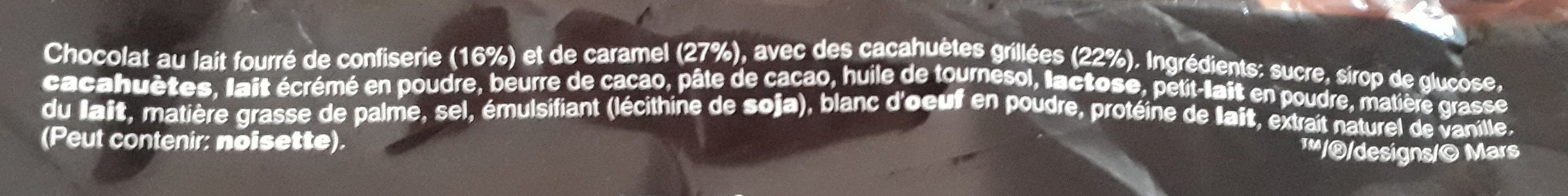 Snickers - Ingredients - fr