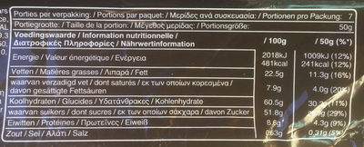 Snickers - Nutrition facts - fr