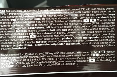 Snickers x12 - Ingrediënten - fr