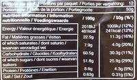 Snickers x12 - Voedingswaarden - fr