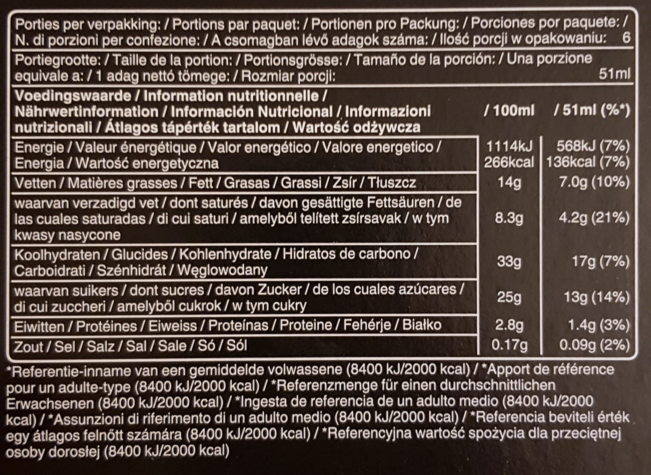 Mars Ice Cream - Informations nutritionnelles - fr