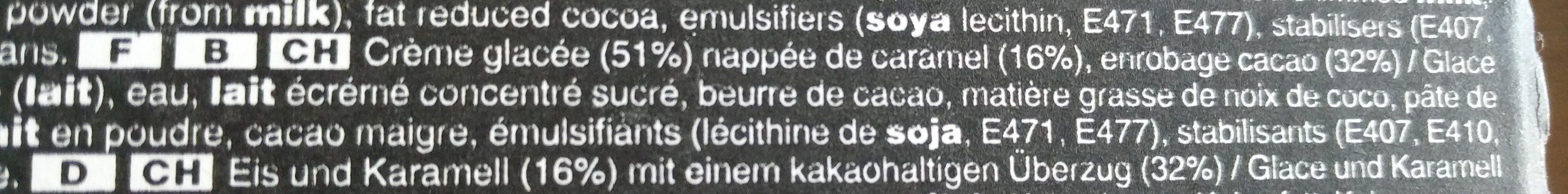 Mars Eiscreme - Ingrédients - fr