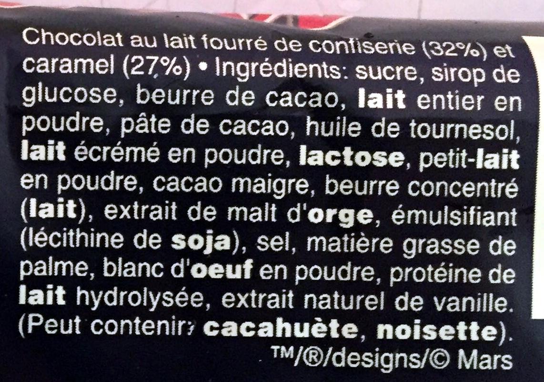 Mars x6 - Ingredienti - fr