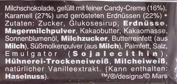 Snickers x6 - Ingredients