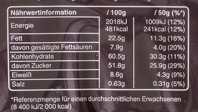 Snickers x6 - Nutrition facts