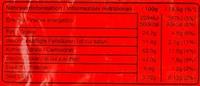 Balisto Korn - Informations nutritionnelles - de