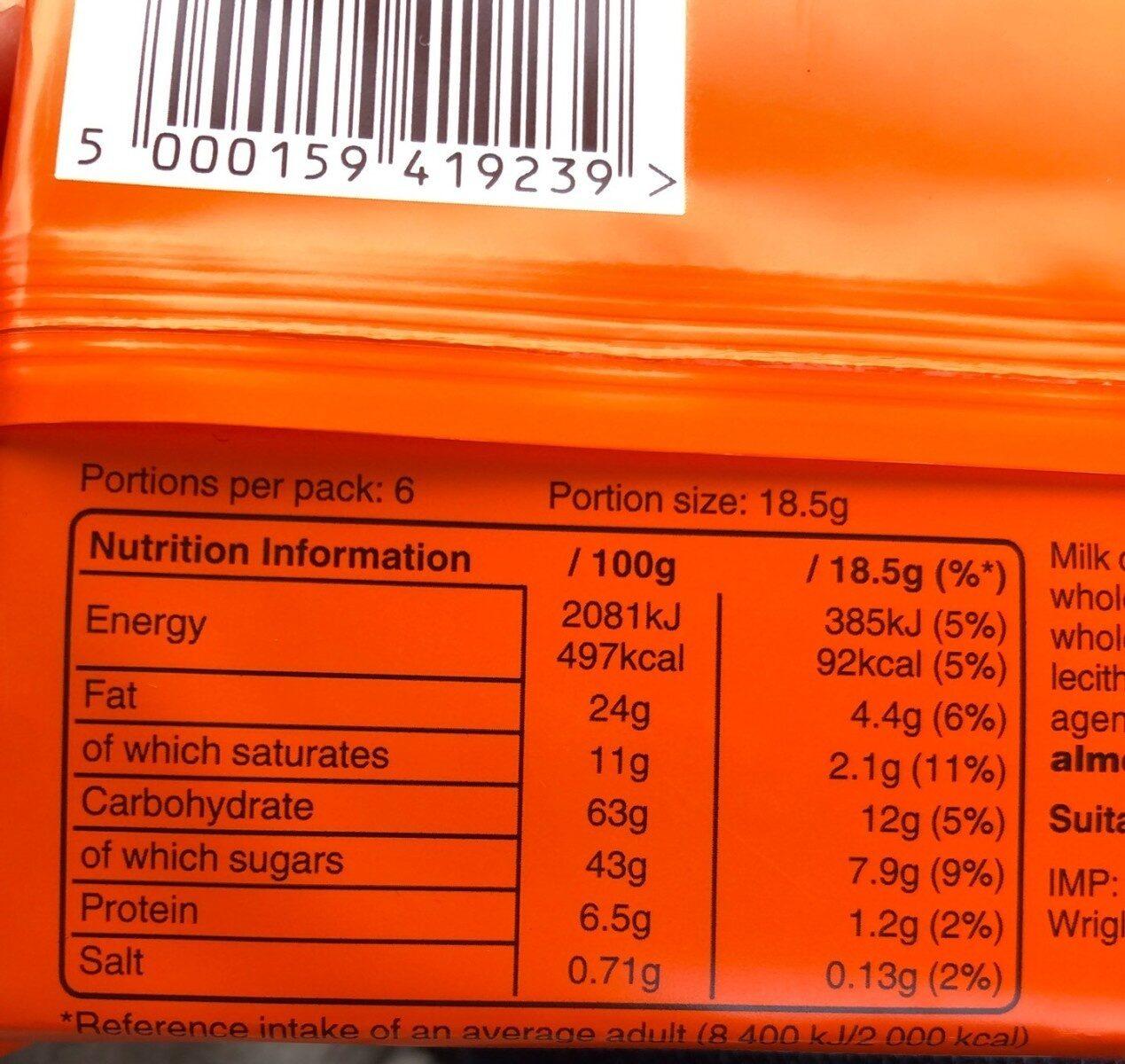 Balisto Céréales-mix 6 Pack - Informations nutritionnelles