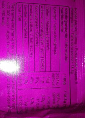 Balisto yaourts fruit des bois - Informations nutritionnelles