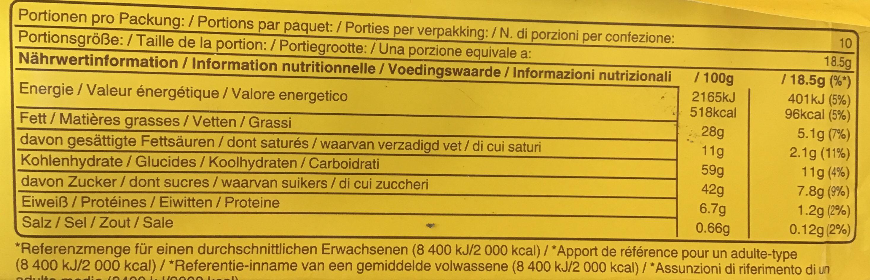 Miel amandes - Voedingswaarden - fr