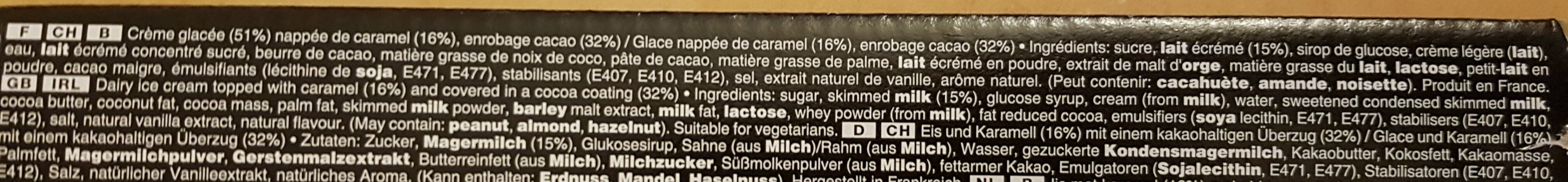Mars Barres Glacées - Ingredients - fr
