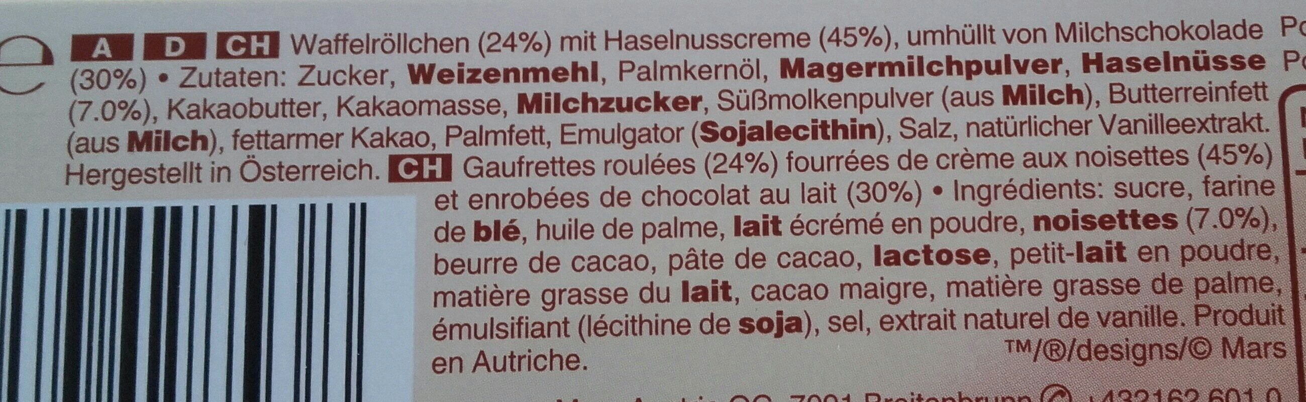 Amicelli - Ingredients