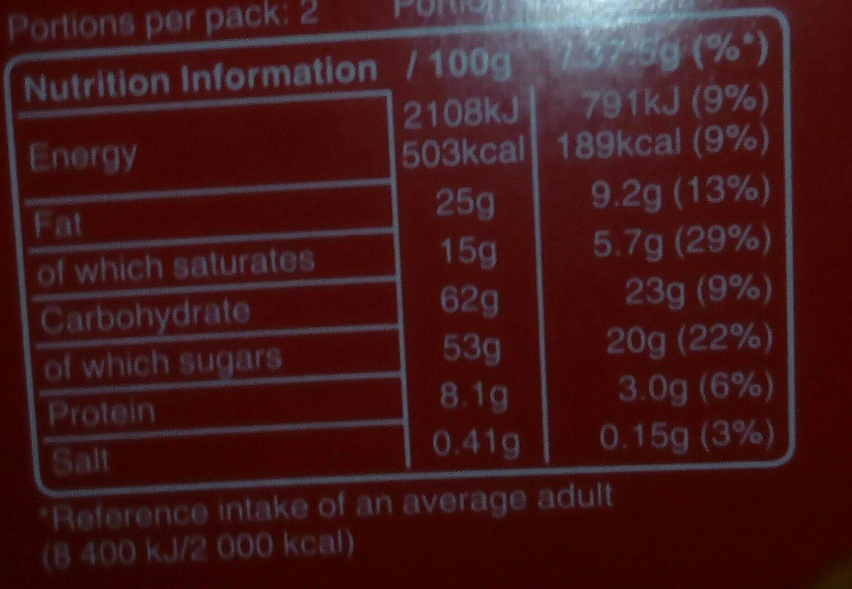Leek & Potato Soup - Nutrition facts - en