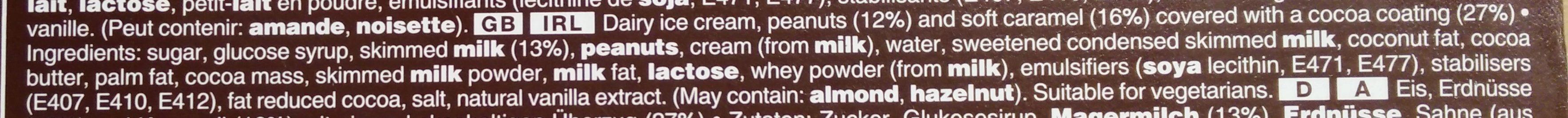 Snickers Ice Cream - Ingredients