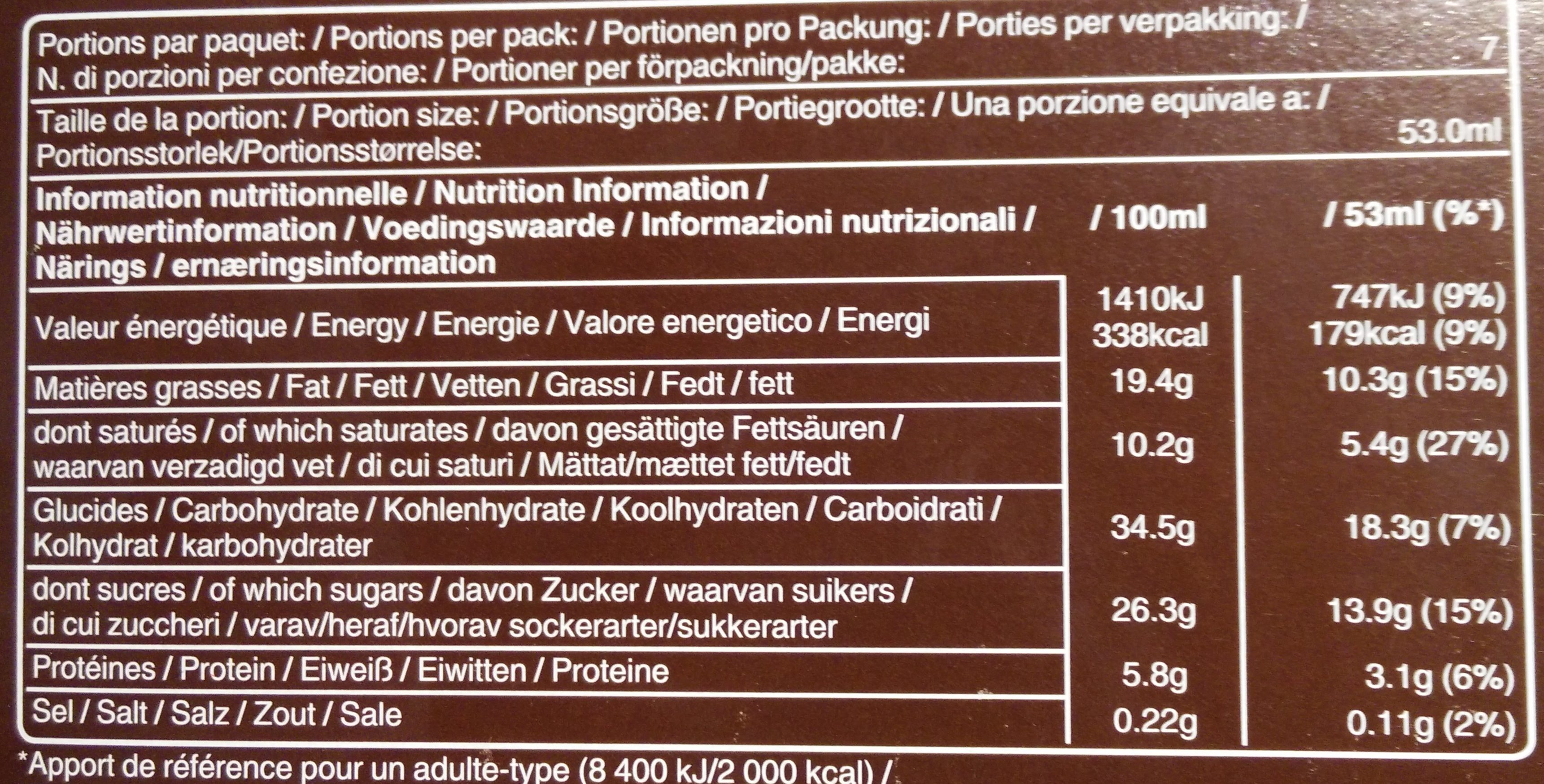 Snickers Ice Cream - Informations nutritionnelles
