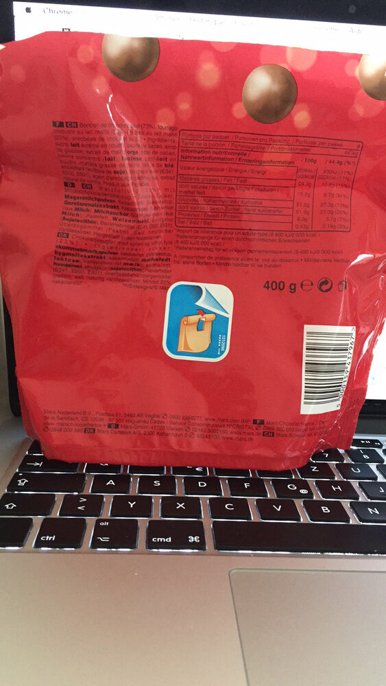 Maltesers (maxi pack) - Informations nutritionnelles