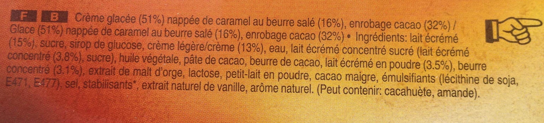 Mars glacé caramel au beurre salé x6 - Ingrédients - fr