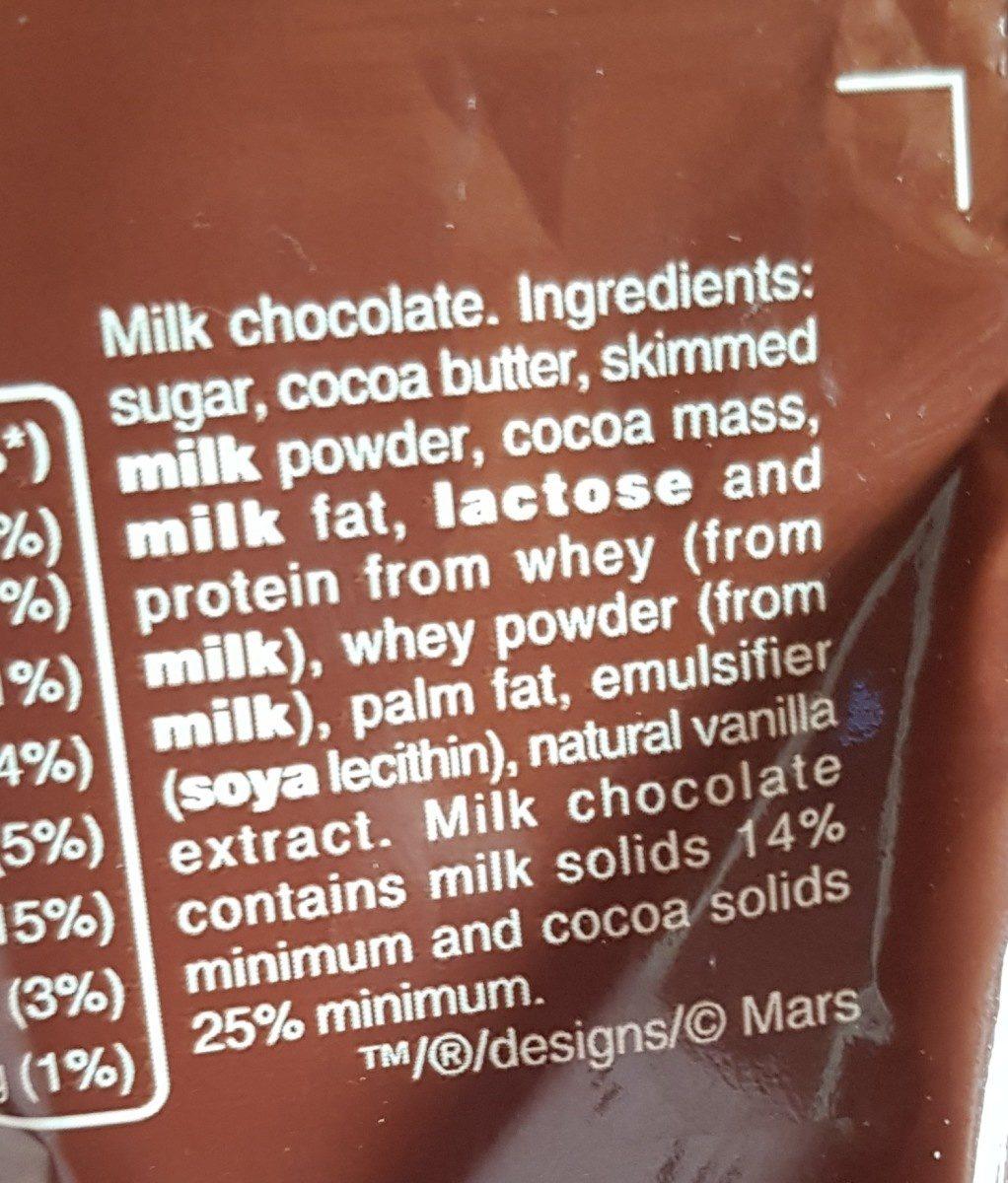 Galaxy chocolate - Ingrédients - fr