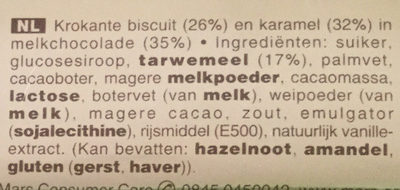 Twix x5 - Ingrediënten - nl