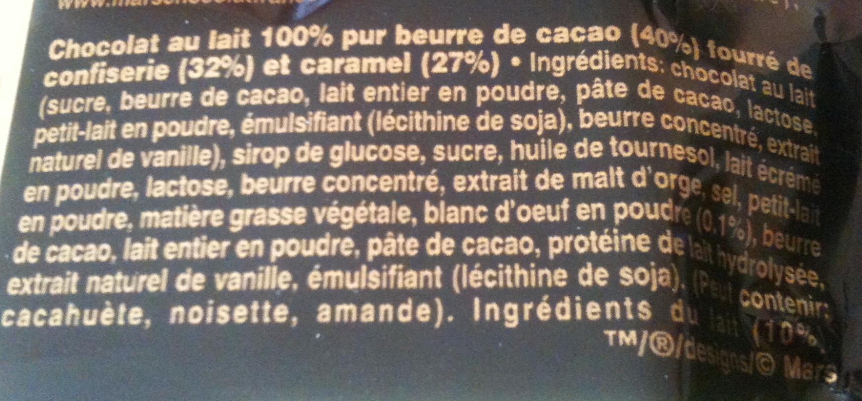 Mars - Coeur Fondant - Ingrediënten - fr