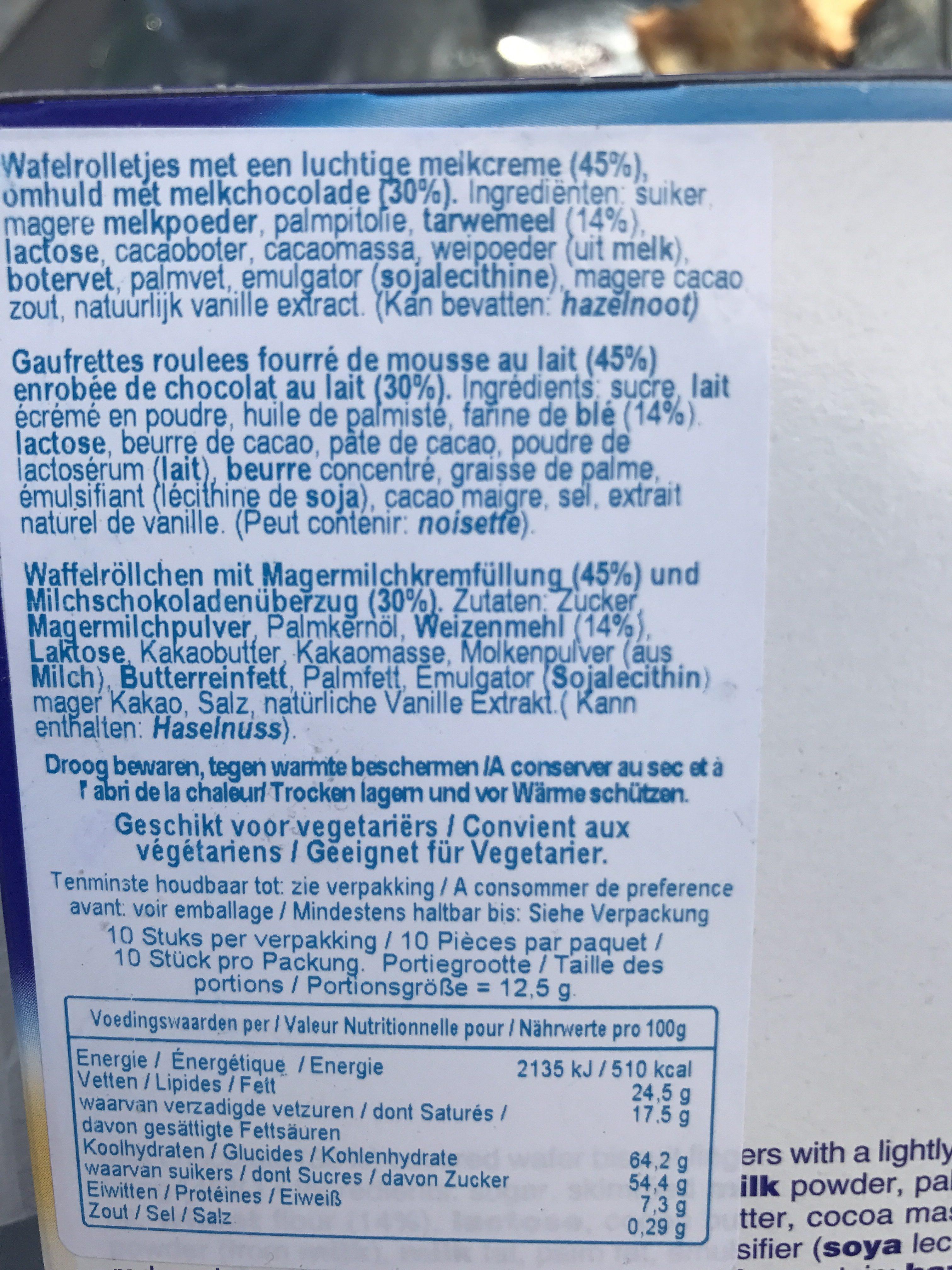 Milky Way Crispy Roll 125G - Ingrediënten - fr