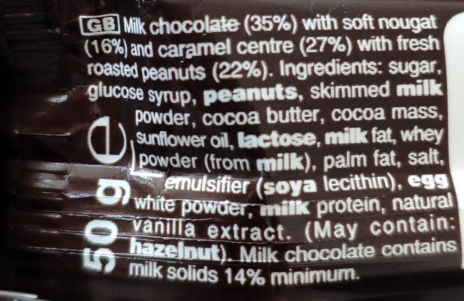 Snickers x1 - Ingredientes - en