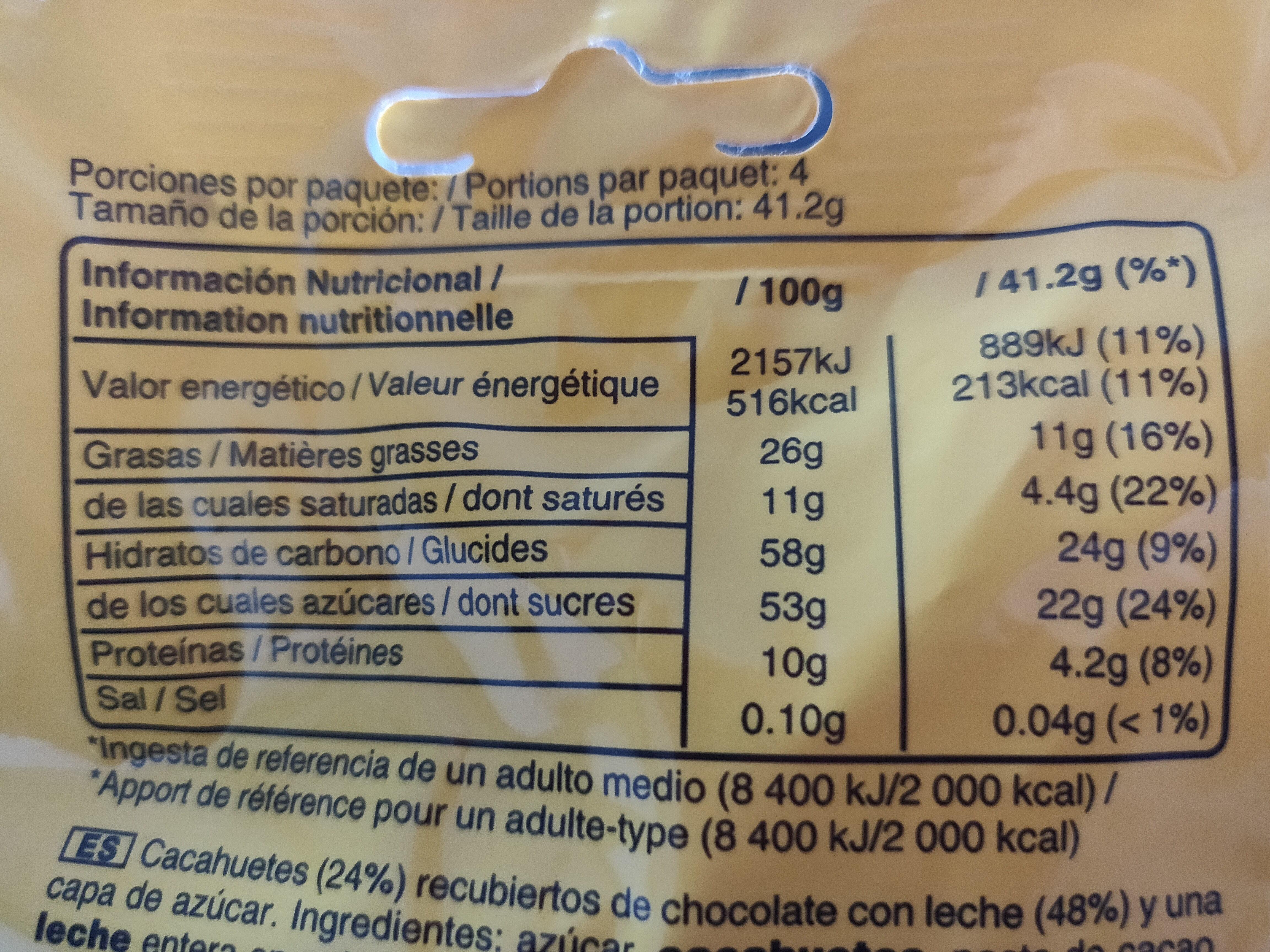 M&M's Peanut 165g - Nutrition facts - fr