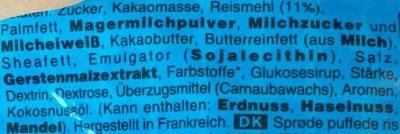 M&m's crispy - Zutaten - de