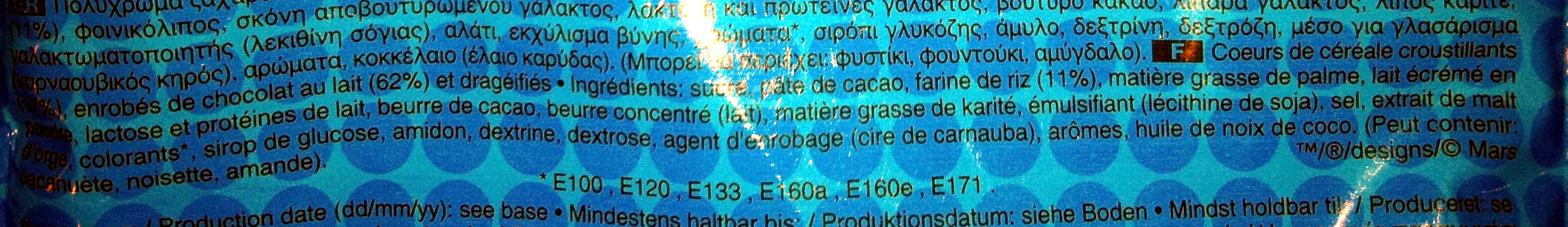 M &M'S Crispy - Ingrédients - fr